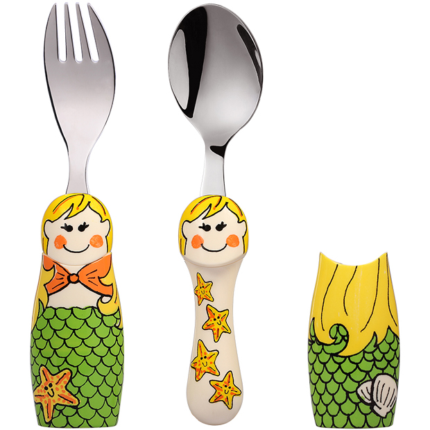 怡饭(EAT4FUN) 二重唱卡通餐具-小美人鱼