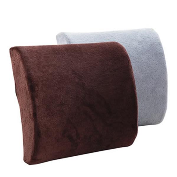 水星家纺慢回弹护腰垫(颜色灰色、咖啡色随机发货)