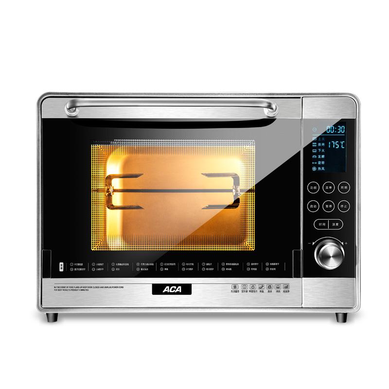 ACA 多功能电烤箱 ATO-36A8 黑色 36L