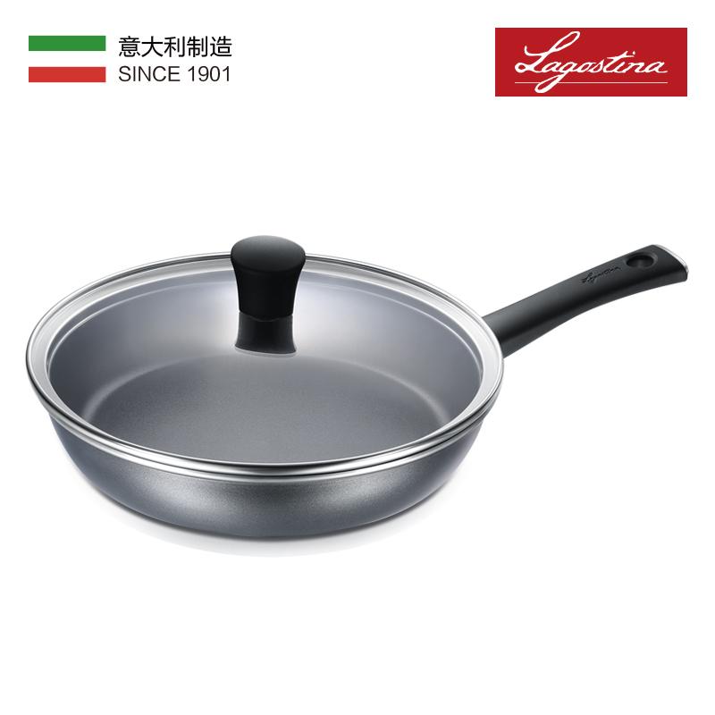 拉歌蒂尼Titania系列不粘煎锅平底锅01615黑色 26cm