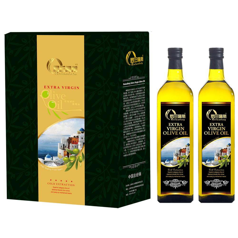 罗兰佩蒂 特级初榨橄榄油1000ml*2礼盒装