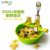 怡饭玩乐餐碗餐具3件套(绿碗+运动男孩)EAT- W01S2