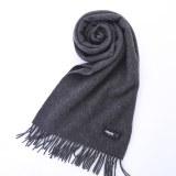 乐上Cashmere克什米尔100%纯羊绒围巾(男款)LT2001DG7M深灰