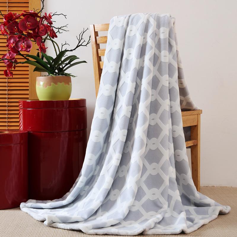 多样屋 法兰绒毯 TA080501005ZZ 灰+白