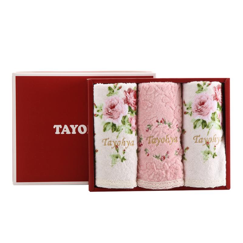 多样屋 花园玫瑰3面巾礼盒