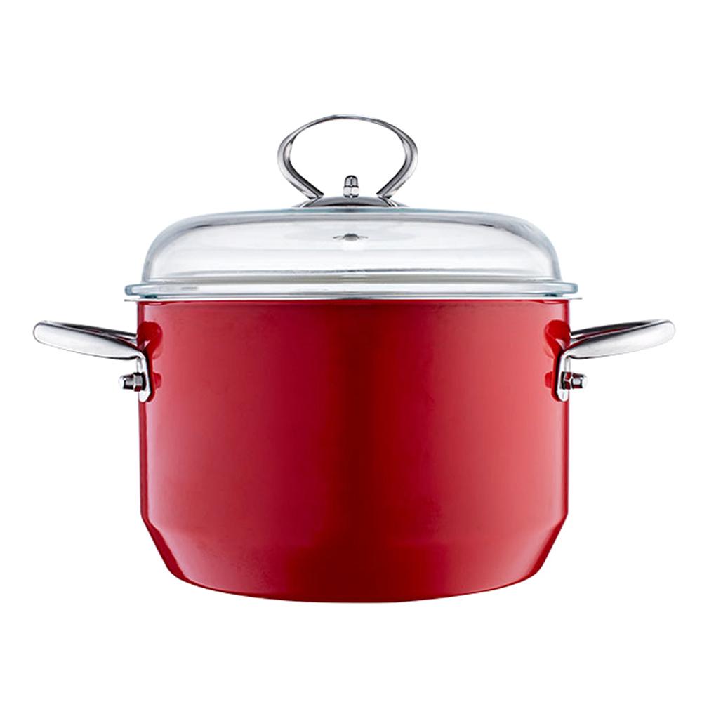 多样屋 欢乐颂不锈钢珐琅汤锅 3.8LTA010101004ZZ 红色