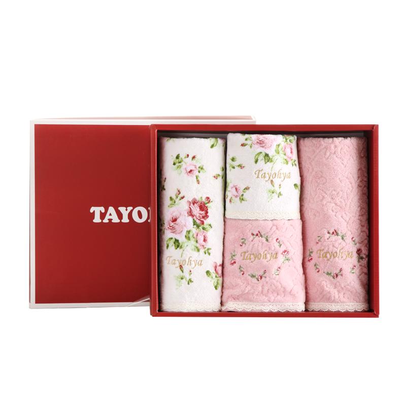 多样屋 花园玫瑰2方2面巾礼盒