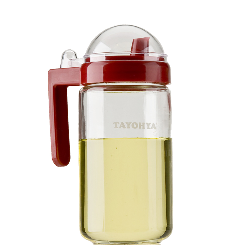 多样屋 PASSION健康玻璃油醋瓶 TA110401003DI 红色 600ML