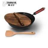 鹤家印 匠技炒锅(包装内含锅盖和铲子) GJ0113 30cm