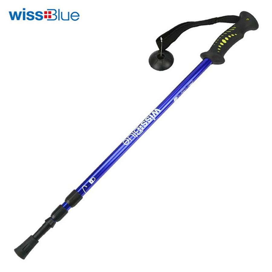 维仕蓝 三节可调节超轻专业登山杖WA8039-B 蓝色