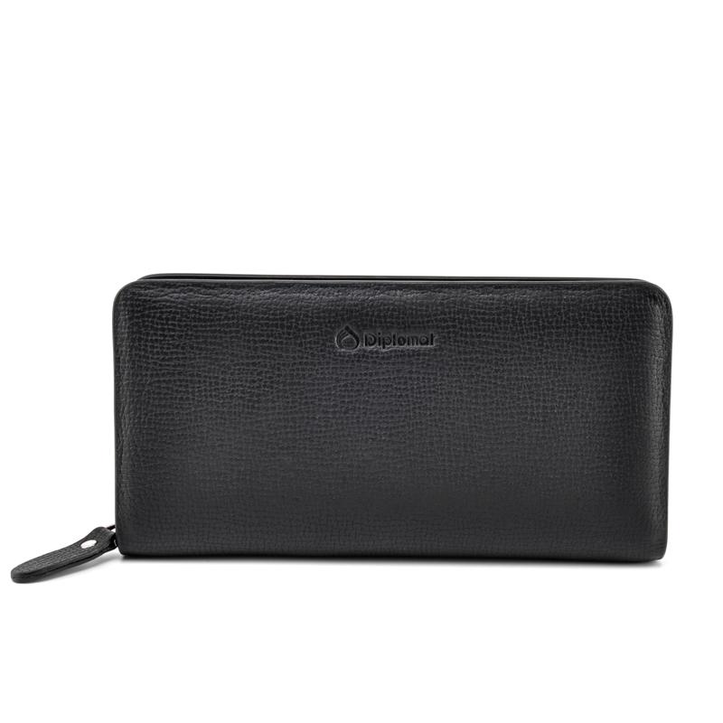 外交官 拉链手包 DS-1268-4 黑色