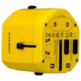 摩米士 1-World 全球旅行充电插座(双USB)