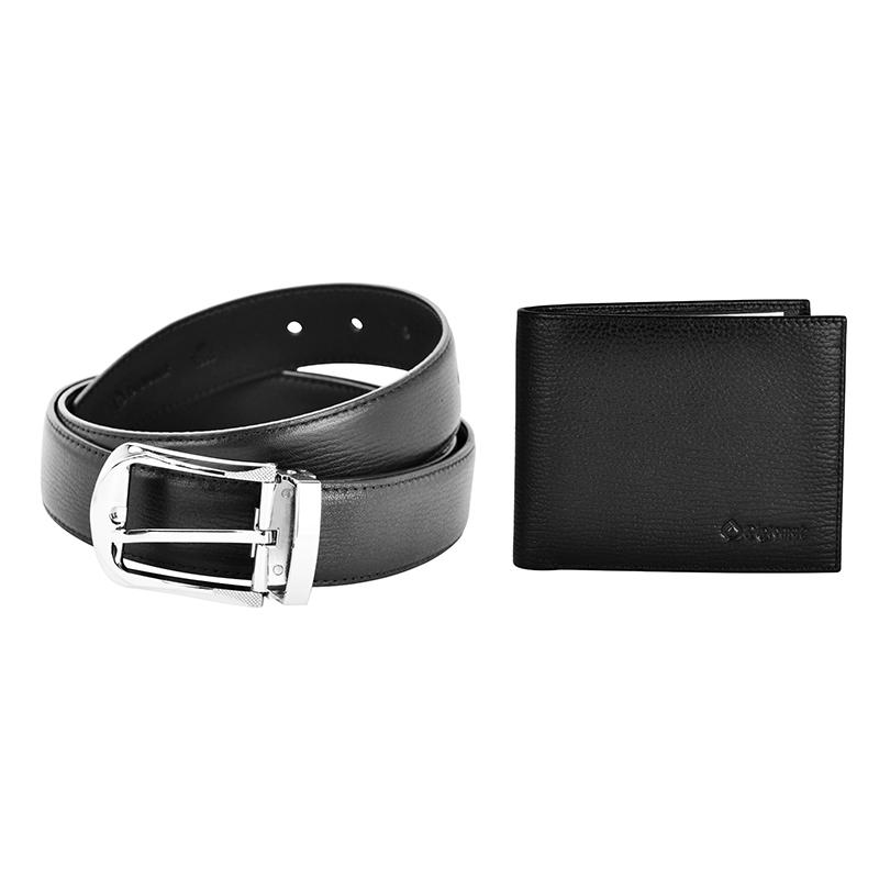 外交官 精品套装皮带+横夹 DS-1268T2 黑色