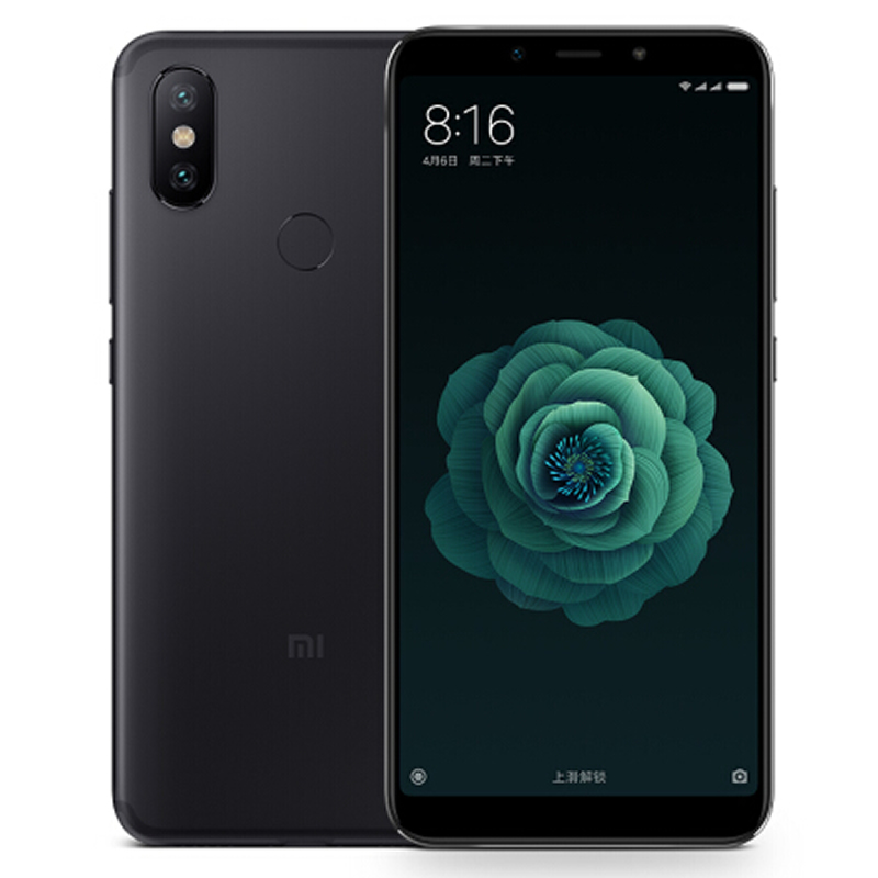 小米6X 全网通 4GB+64GB 曜石黑 移动联通电信4G手机 双卡双待 智能手机