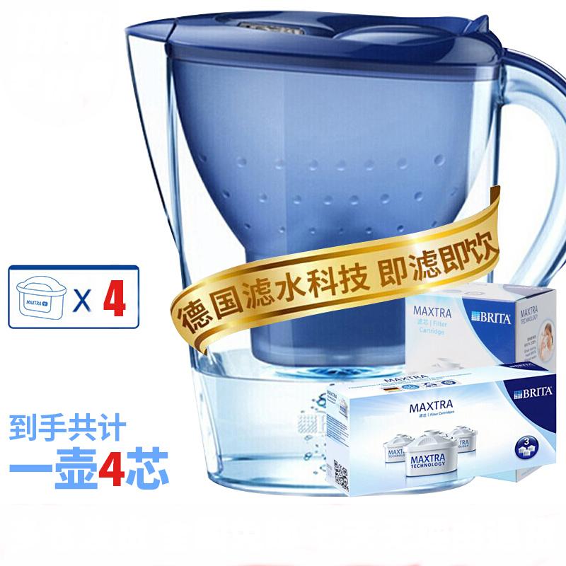 碧然德 金典滤水壶3.5L 蓝色 一壶4芯