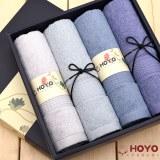 HOYO 荷花礼盒4件套 臻品长绒棉 灰色系列 4506