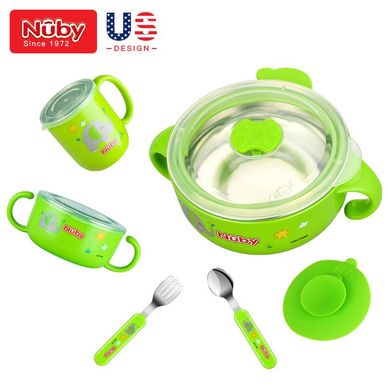 努比 儿童餐具9件套 绿色 93091