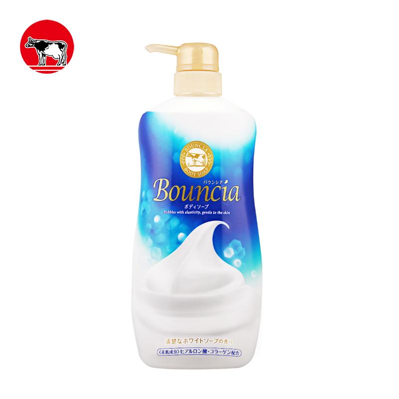 COW牛乳石碱Bouncia浓密泡沫美肌沐浴乳750ml(百花香)
