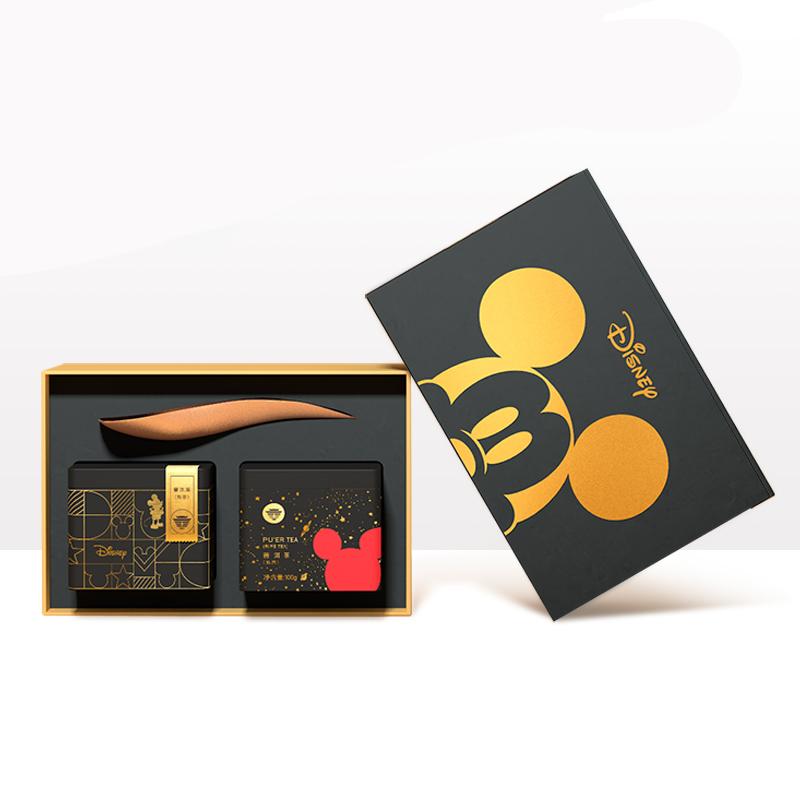 大益(TAETEA)米奇90周年单罐铁盒(熟茶)100g
