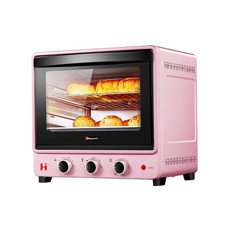 海氏(Hauswirt)家用多功能立式烤箱 30L 粉色 B30