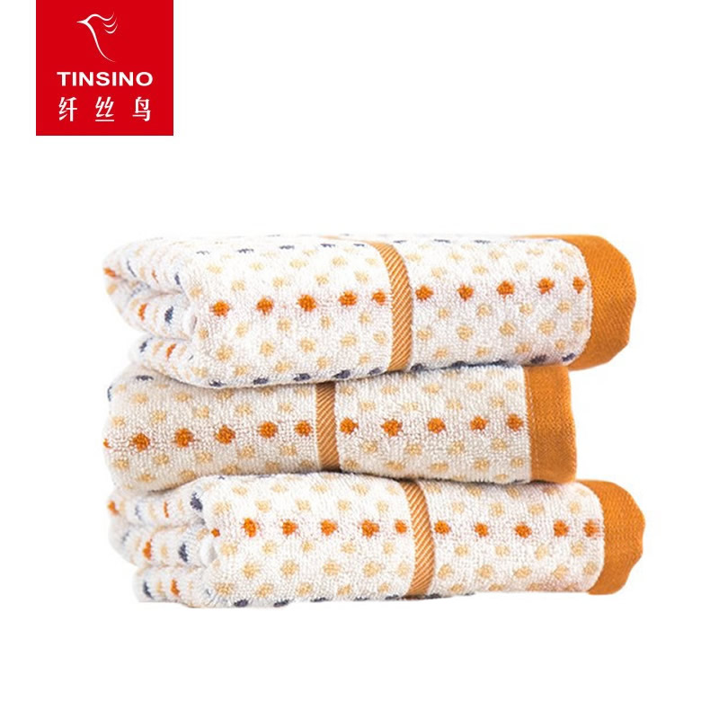 纤丝鸟 木纤维毛巾-享生活30*60cm 三条装(彩色)