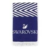 施华洛世奇(SWAROVSKI) 沙滩毛巾 白蓝 5358075