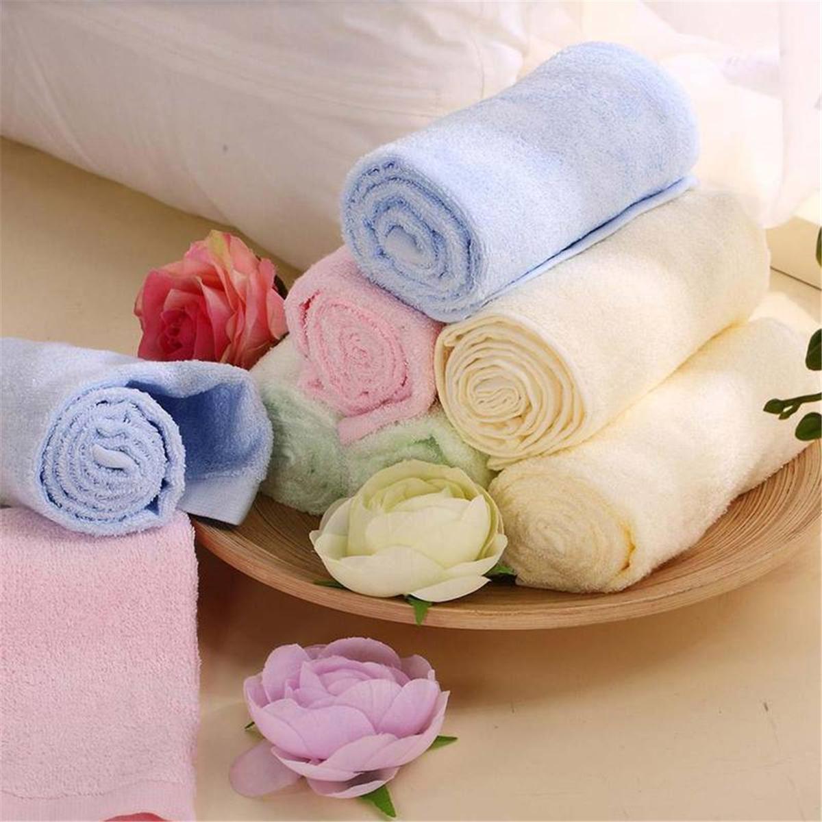 水星家纺 天丝美容巾28*50cm 家庭装(三条,颜色随机) 109651