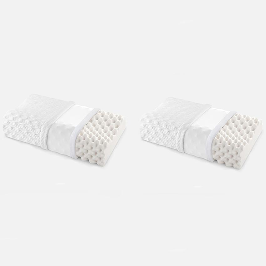 佳奥 大颗粒按摩款乳胶枕 大高枕60*37*11-9CM 白色 一对装